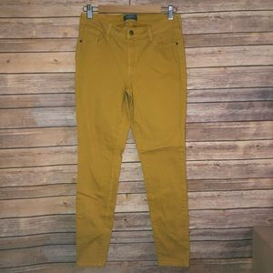 Mustard Midrise Skinny Jeans Rockstar Old Navy 8